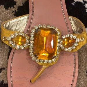 Betsey Johnson Shoes - Betsey Johnson Gold Frey Sandal